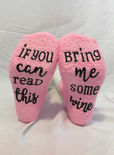 Pink Women's Socks Solid Cotton Letter Socks LC09273-10