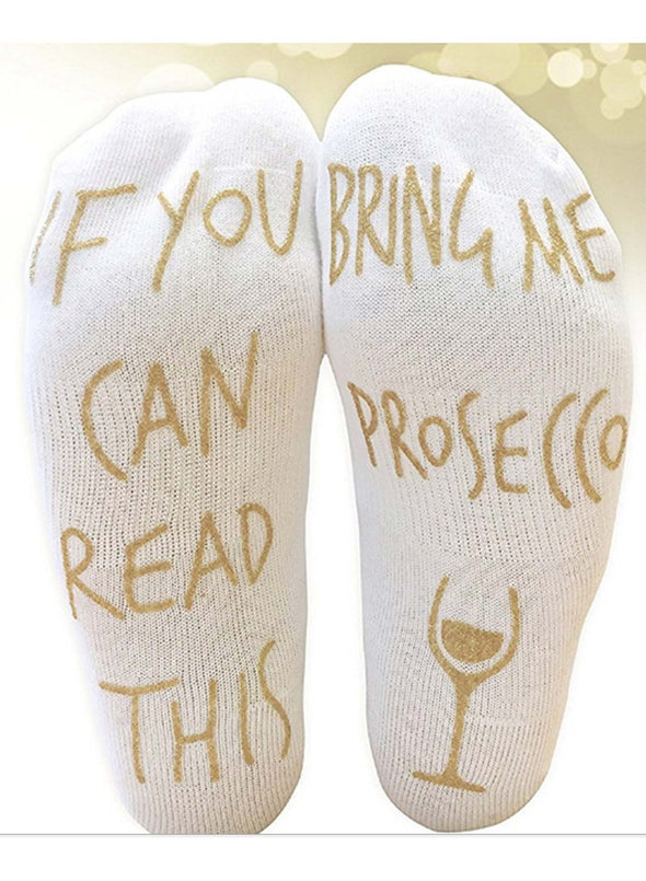 White Women's Socks Letter Cotton Socks LC09310-301