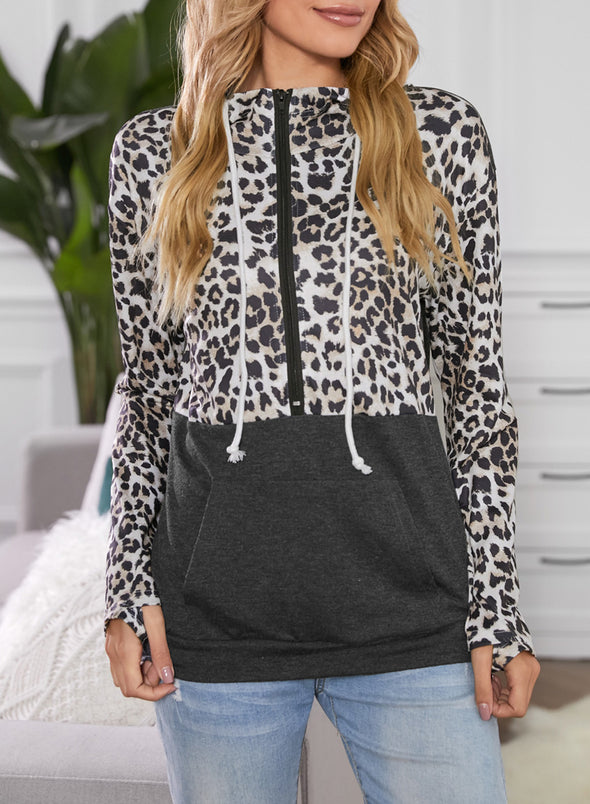 Leopard Camouflage Animal Print Daily Sweatshirt LC2533513-20