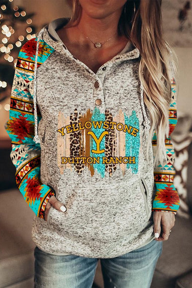 Multicolor Women's Hoodies Letter Color Block Long Sleeve Casual Pocket Hoodie LC2536332-22