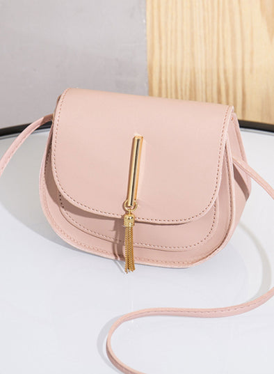 Pink Women's Messenger Bags Solid Casual Simple Shoulder Messenger Bag LC003628-10