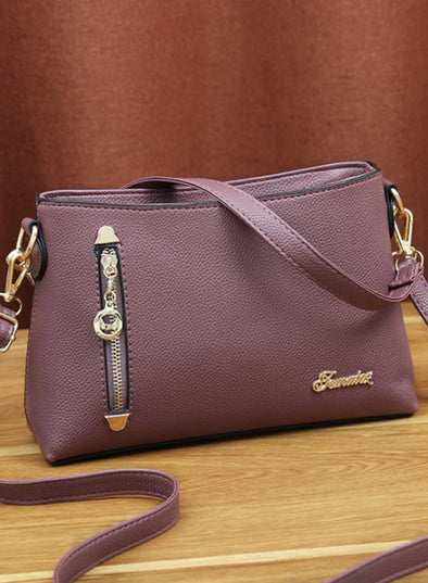 Purple Women's Messenger Bags Solid Daily Simple Shoulder Messenger Bag LC003629-8