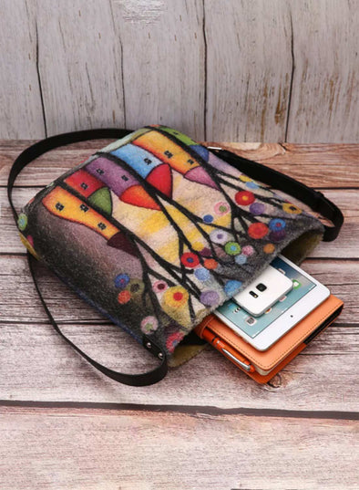 Multicolor Women's Messenger Bags Floral Daily Casual Shoulder Messenger Bag LC003661-22