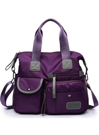 Purple Women's Messenger Bag Solid Polyester Bag LC003699-8
