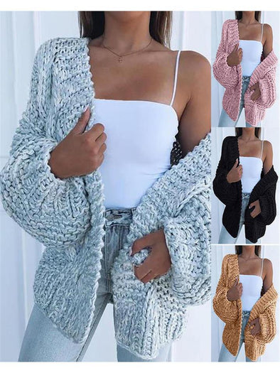 Ultra Warm Ribbed Knit Cardigan Sweater