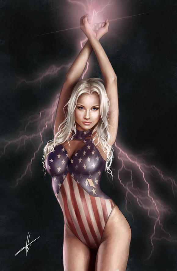 PATRIOTIKA #1 COMIC CONNECTION EXCLUSIVE CARLA COHEN CHROME OPTIONS