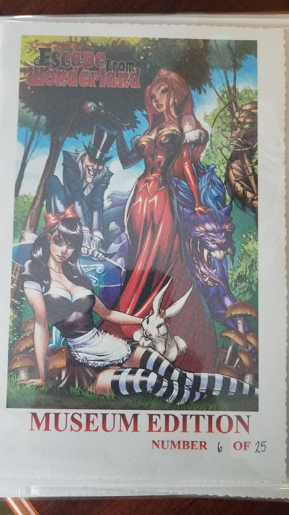 ESCAPE FROM WONDERLAND RARE MUSEUM EDITION J SCOTT CAMPBELL