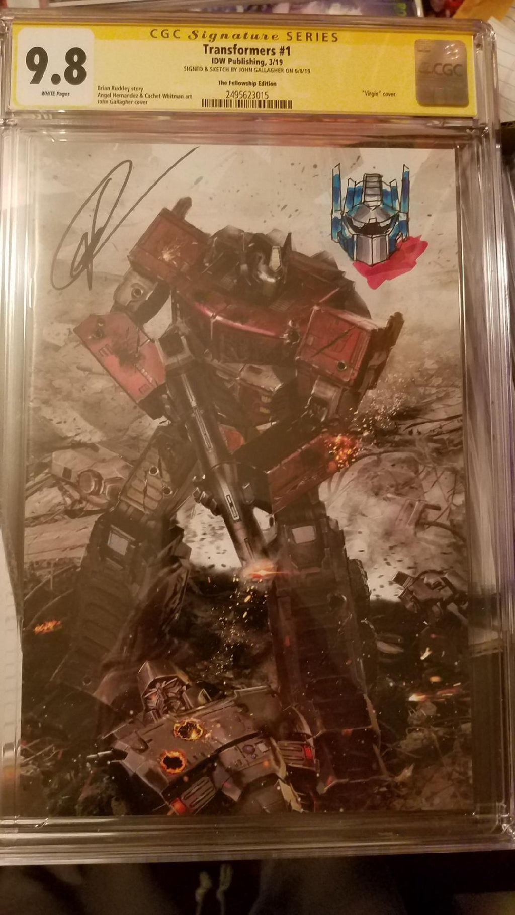 TRANSFORMERS #1 JOHN GALLAGER 9.8 CGC SS REMARK LTD 600