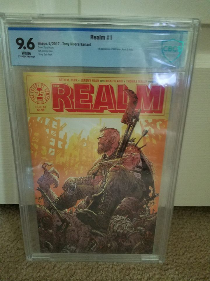REALM #1 TONY MOORE COVER 9.6 CBCS