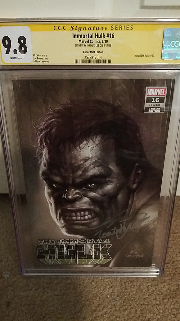 IMMORTAL HULK #16 LEE INHYUK 9.8 CGC SS