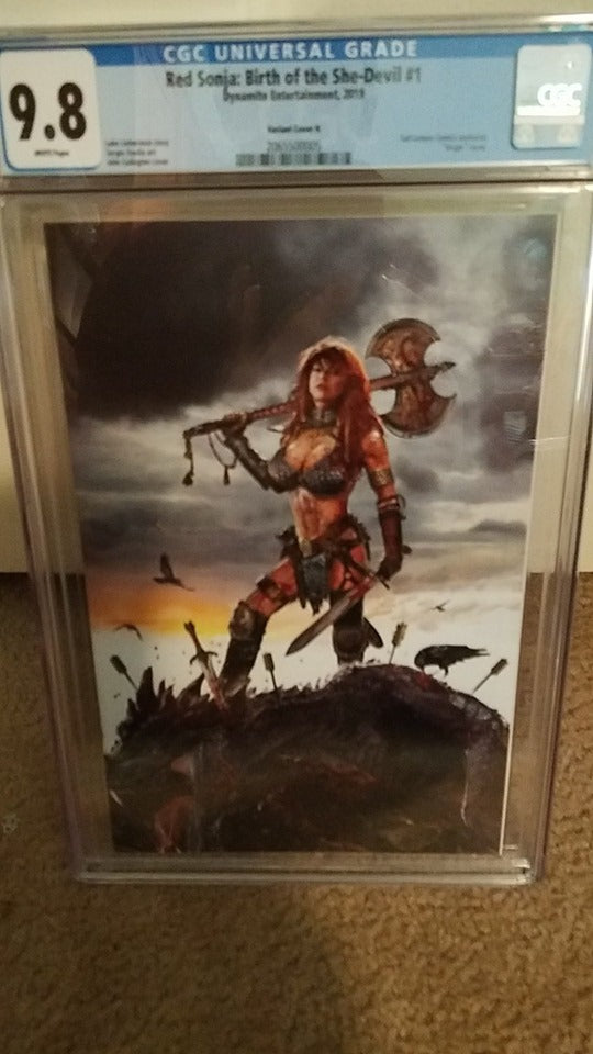 RED SONJA #1 BIRTH OF THE SHE DEVIL JOHN GALLAGHER 9.8 CGC