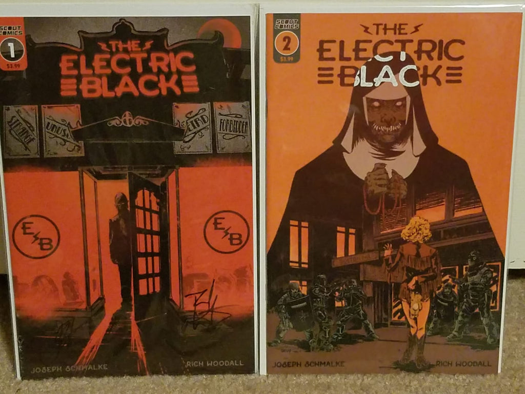 ELECTRIC BLACK #1-2 FIRST PRINT COVER JOE SCMANKE SIGNED X2 NM