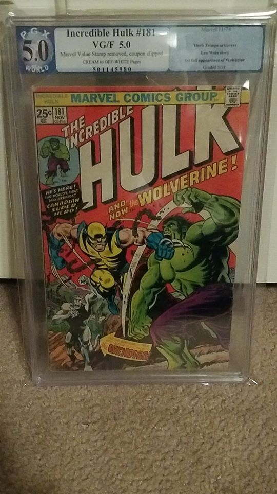 INCREDIBLE HULK #181 5.0 PGX