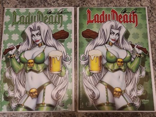 LADY DEATH KILLERS #1 BILL MCKAY ST PATRICK SET SIGNED HTF