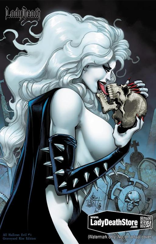 LADY DEATH ALL HALLOWS EVIL #1 GRAVEYARD EDITION JIM BALENT NM