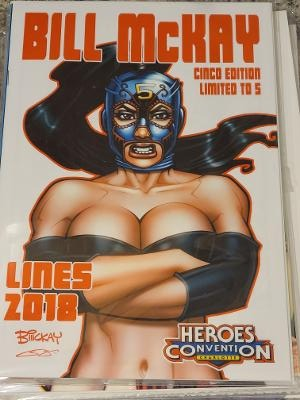 BILL MCKAY LINES CINCO EDITION HEROES CONVENTION LTD ONLY 5
