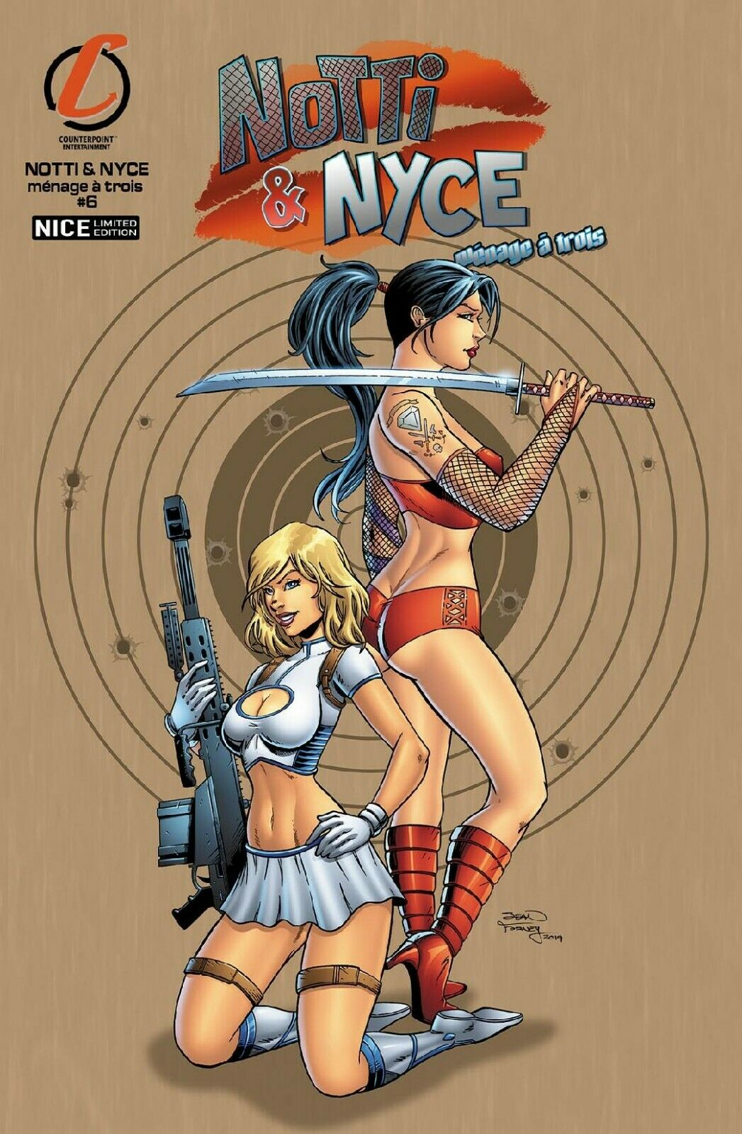 NOTTI & NYCE #6 MENAGE TROIS COMPLETE SET OF 6