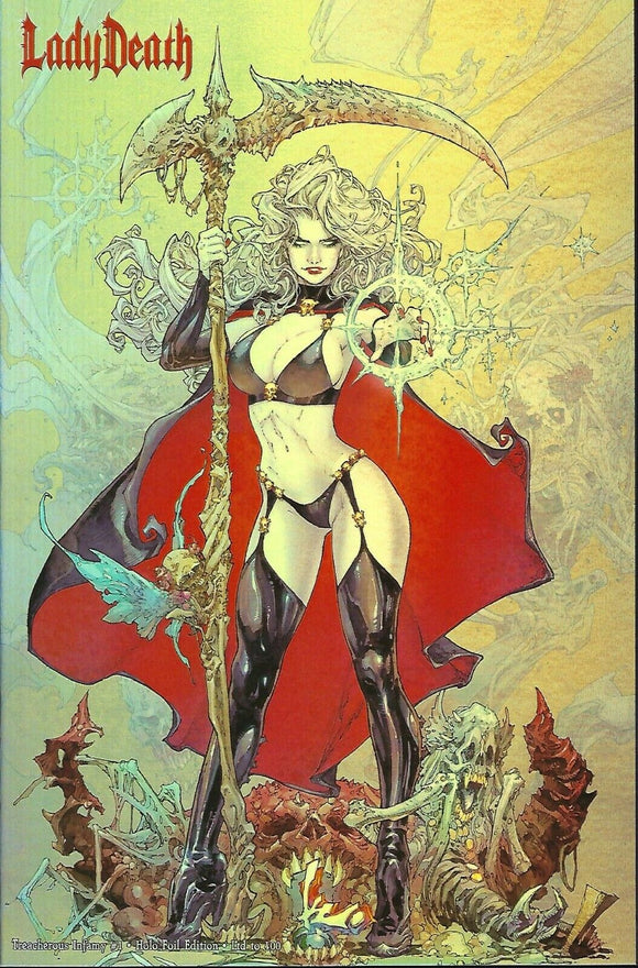 Lady Death Treacherous Infamy Holo Foil Cover