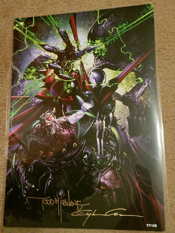 SPAWN PRINT LIMITED TO 150 SIGNED BY TODD MCFARLANE & CLAYTON CRAIN