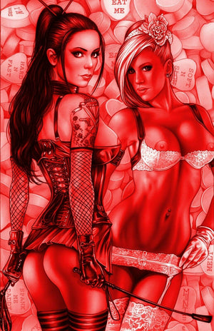 Notti & Nyce #7 GOLD, RUBY RED, B&W NAUGHTY SET OF 3