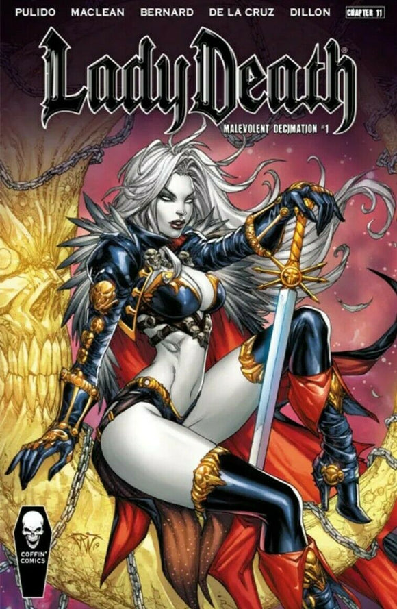 LADY DEATH MALEVOLENT DECIMATION #1 HARD COVER CHAPTER 11 NM