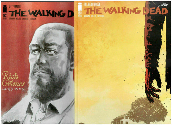 THE WALKING DEAD #192 AFTERMATH COMMEMORATIVE & 193 LAST ISSUE NM