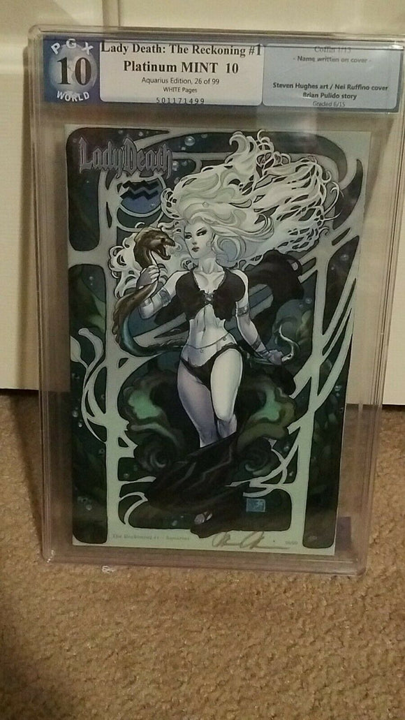LADY DEATH RECKONING #1 AQUARIUS EDITION PGX 10.0 NEI COVER