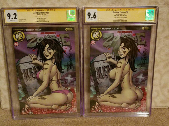 ZOMBIE TRAMP #50 LIMITED TO 75 SIGNED BY BILL MCKAY 9.8/9.4 CGC SS