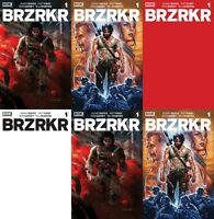 BRZRKR #1 ALL 5 STANDARD COVERS + 1:10 RED BLANK