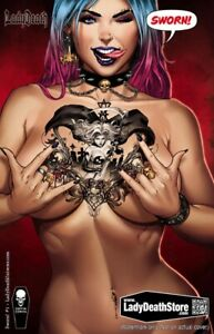 LADY DEATH SWORN #1 NAUGHTY TATTOO MIKE KROME
