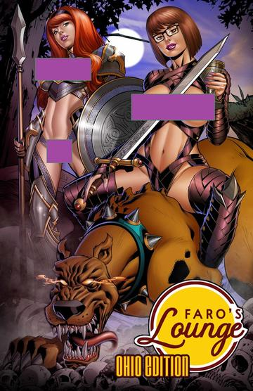 FARO'S LOUNGE SCOOBY HELL HOUND NAUGHTY VARIANT NM