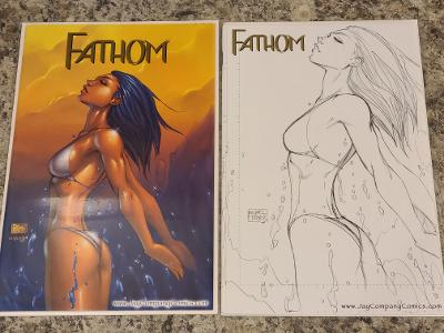 FATHOM PREVIEW SPECIAL JA CO EXCLUSIVE MICHAEL TURNER SET COA (movie coming)