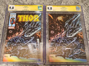 THOR #6 KYLE HOLTZ TRADE & VIRGIN EXCLUSIVE SET 9.8 CGC SS