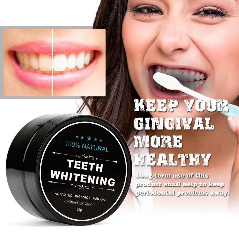 Natural Charcoal Teeth Whitener Stain Removal