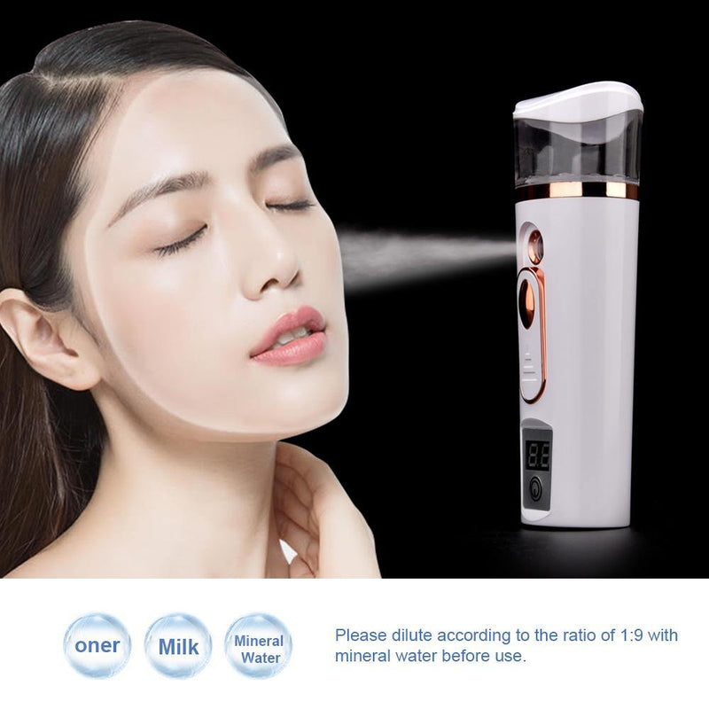 Face Spray Steamer Bottle Nano Mister Measuring Skin Moisture Hydrating