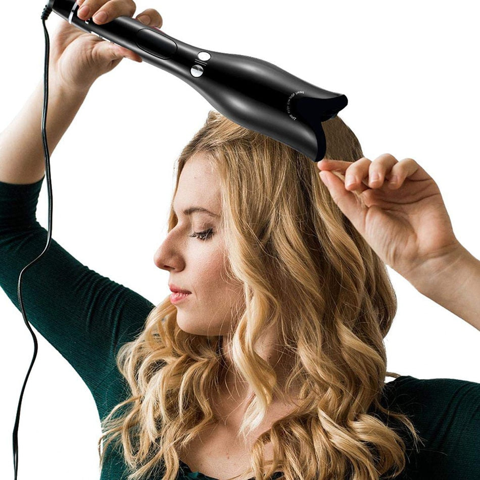 Automatic Spiral Hair Curler with LED Display