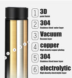 Smart Double Wall Insulated Vacuum Bottle With LCD Touch Screen (Waterproof)