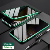 Privacy Magnetic Tempered Glass Case Front + Back  (IPHONE ONLY)