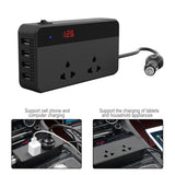 Smart Powerful Inverter 200W with USB Ports & 220V Sockets Charger