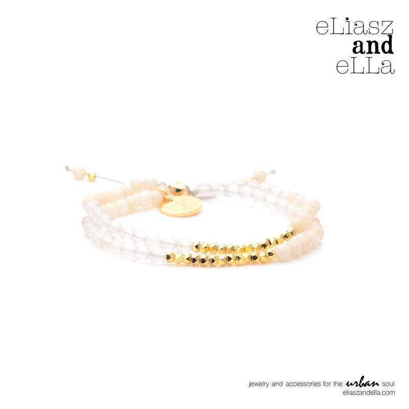 "Eliasz and Ella ""Enlightening"" Mixbead Stone Bangin' Bracelet - Saradee Boutique"