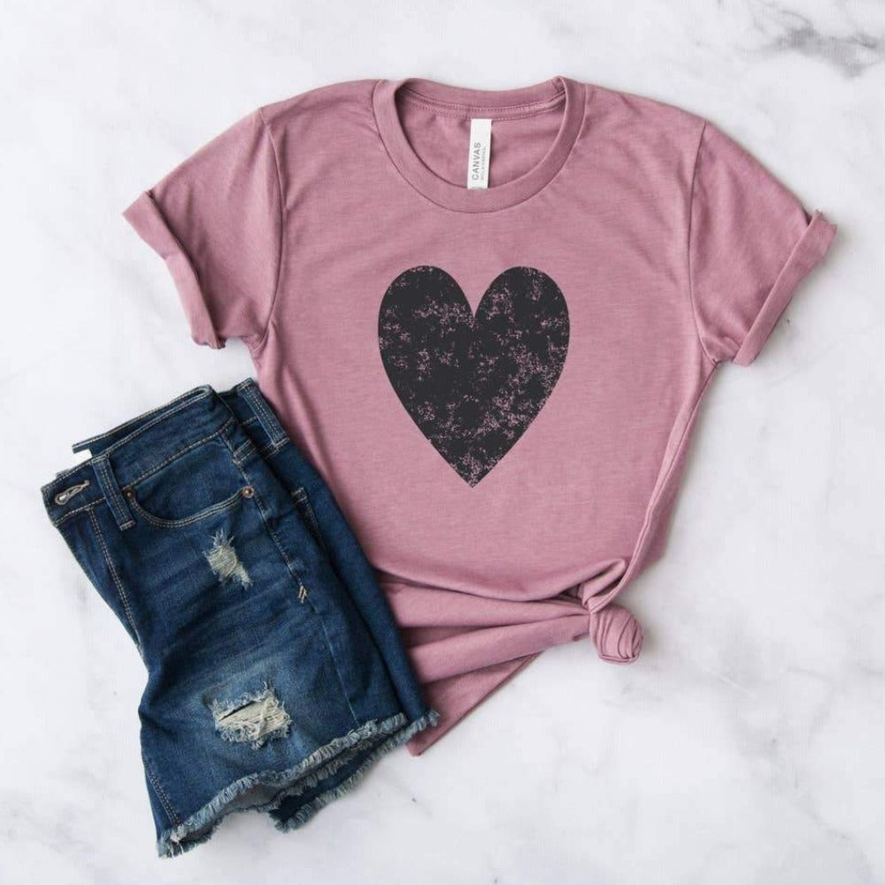 Cute Valentine's Tee Orchid, Crewneck - Saradee Boutique