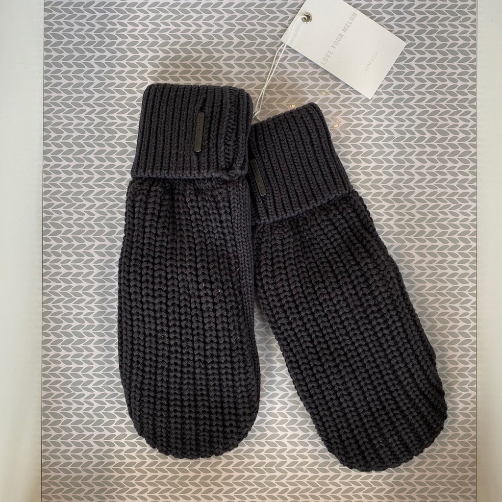 Black Knit Mittens - Saradee Boutique