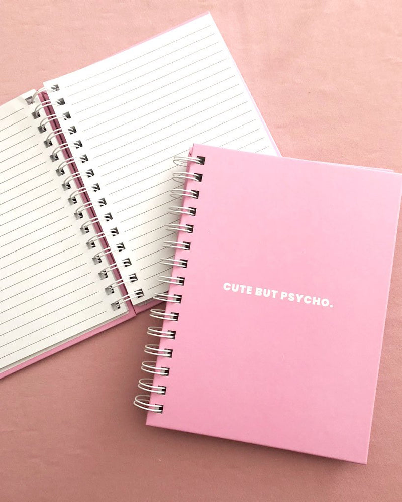 Cute But Psycho Notebook - Saradee Boutique