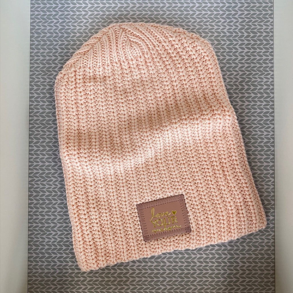 Blush Monochrome Gold Foil Beanie - Saradee Boutique