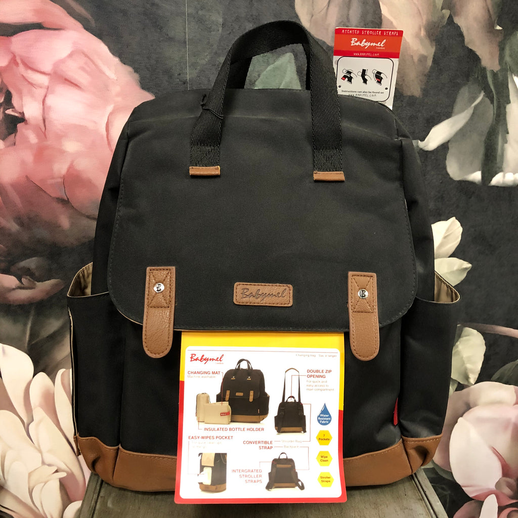 Robyn Convertible Backpack Black - Saradee Boutique