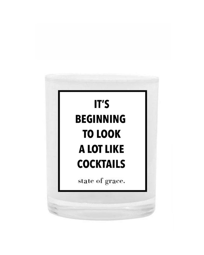 Its Beginning To Look A Lot Like Cocktails Candle - Saradee Boutique