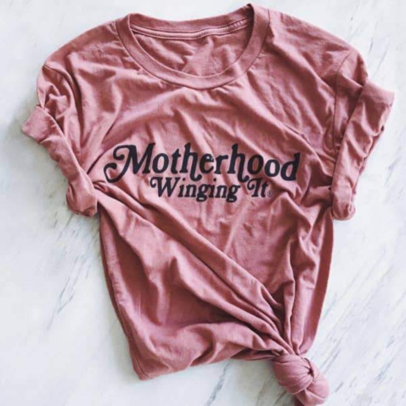 Motherhood Winging It Mauve Tee - Saradee Boutique