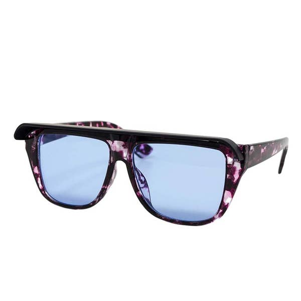 Black and Pink Visor Sunglasses
