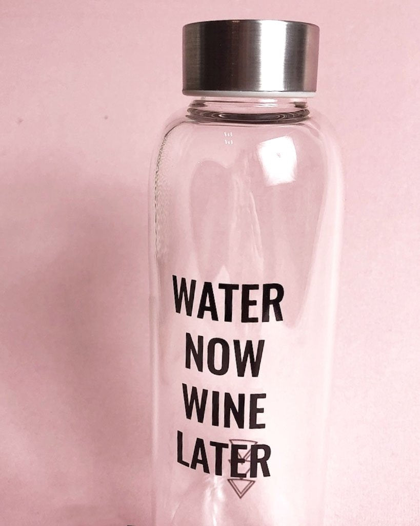 Water Now Wine Later Water Bottle - Saradee Boutique