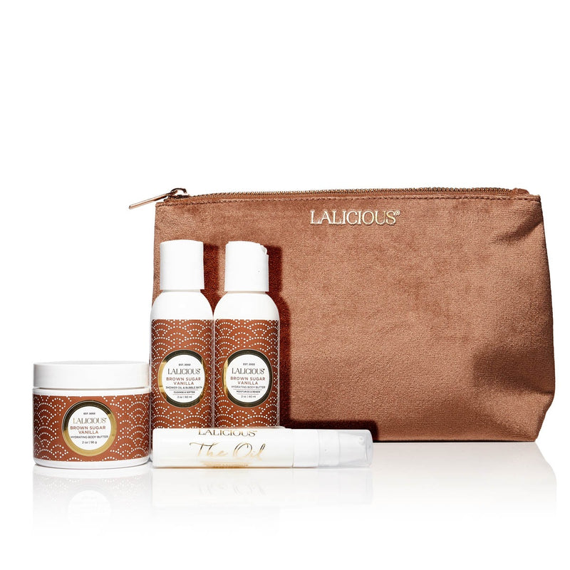 Brown Sugar Vanilla Travel Set